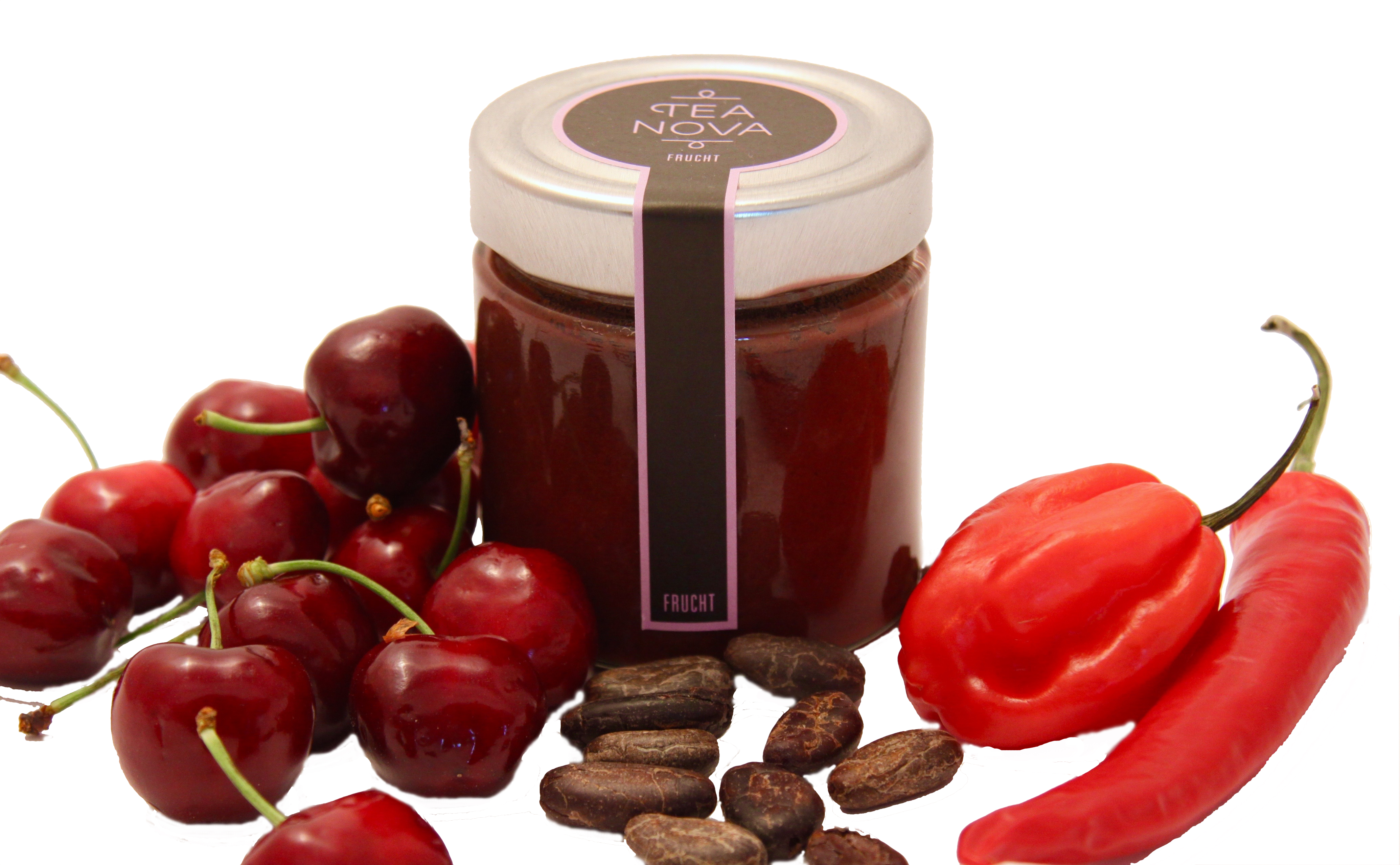 kirsch schoko chili fruchtaufstrich ein regenbogenartiges geschmackserlebnis. Black Bedroom Furniture Sets. Home Design Ideas